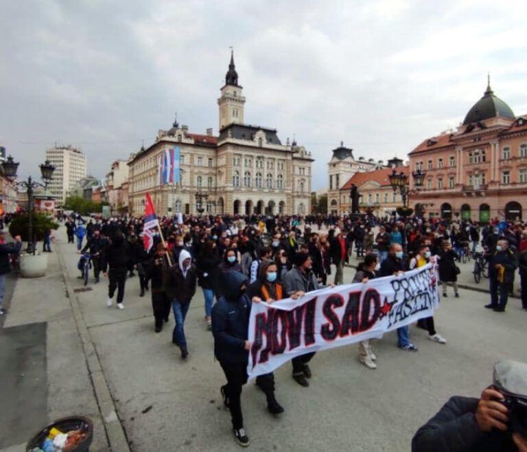 Održan antifašistički protest u Novom Sadu
