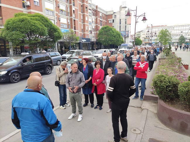 Radnici FRA protestovali ispred Gradske uprave