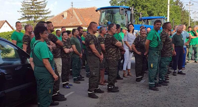 Protest radnika Agro-Kleka